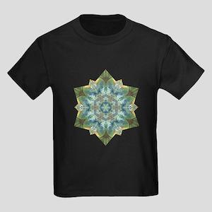 Snowflake Abundance Mandala Kids Dark T-Shirt