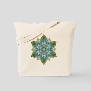 Snowflake Abundance Mandala Tote Bag