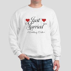 Just Marrried (Add Wedding Date) Sweatshirt