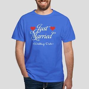 Just Marrried (Add Wedding Date) Dark T-Shirt