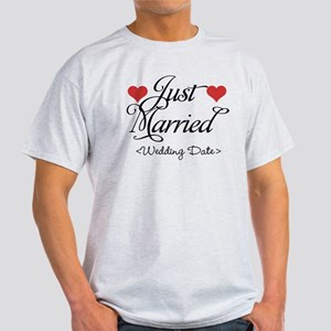 Just Marrried (Add Wedding Date) Light T-Shirt