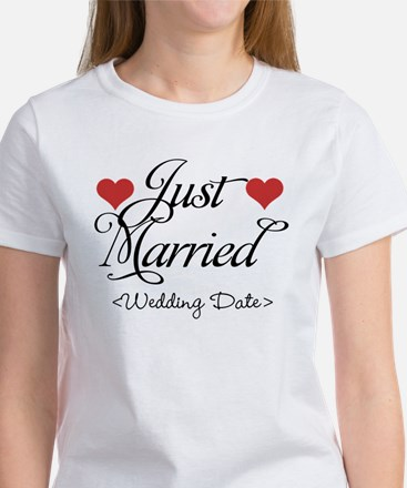 Just Marrried (Add Wedding Date) Women's T-Shirt