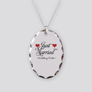 Just Marrried (Add Wedding Date) Necklace Oval Cha