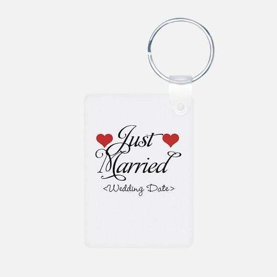 Just Marrried (Add Wedding Date) Keychains