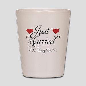 Just Marrried (Add Wedding Date) Shot Glass