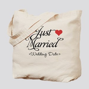 Just Marrried (Add Wedding Date) Tote Bag