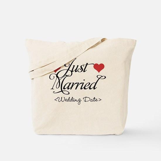 Just Marrried (Add Wedding Date) Tote Bag