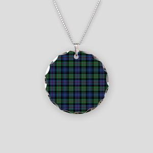 Tartan-MurrayAtholl Necklace Circle Charm