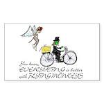 better with flying monkeys Sticker (Rectangle)