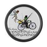 better with flying monkeys Large Wall Clock