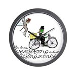 better with flying monkeys Wall Clock
