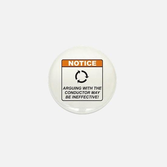 Conductor / Argue Mini Button
