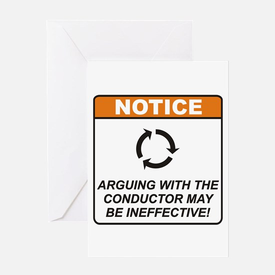 Conductor / Argue Greeting Card