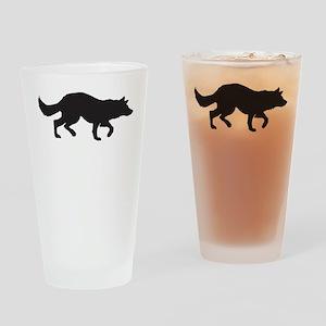 Border Collie Drinking Glass