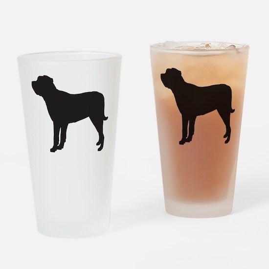 Mastiff Drinking Glass