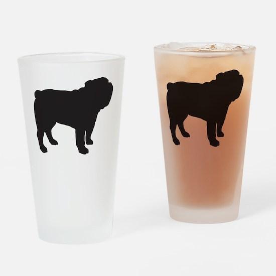 Bulldog Drinking Glass
