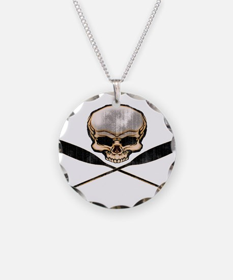SKULL OARS CROSSBONES Necklace