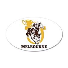 horse racing 22x14 Oval Wall Peel