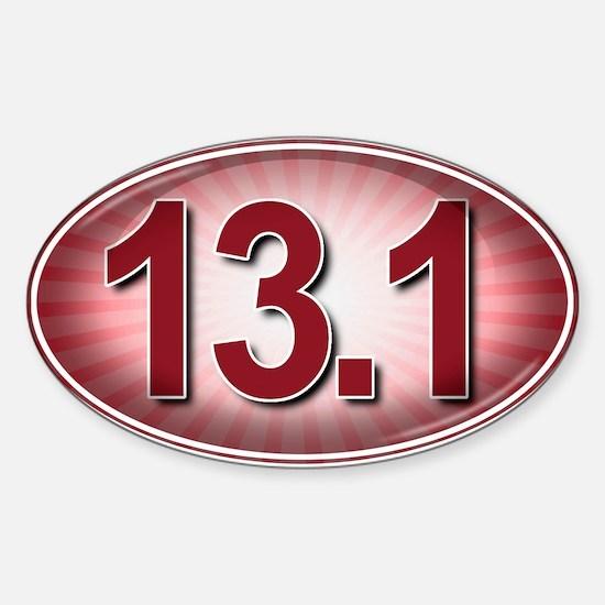 RED Burst Marathon Sticker (Oval)
