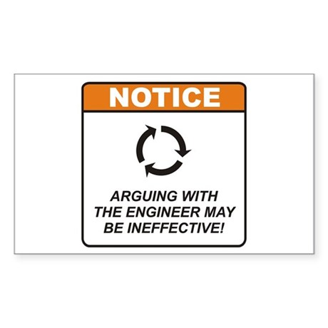 Engineer / Argue Sticker (Rectangle 50 pk)