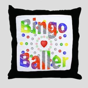 Bingo Baller Throw Pillow