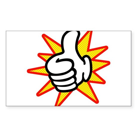 Thumbs Up Sticker (Rectangle)