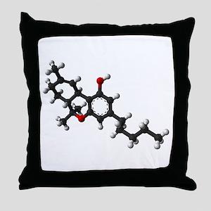 THC/Cannabis/Marijuana Throw Pillow