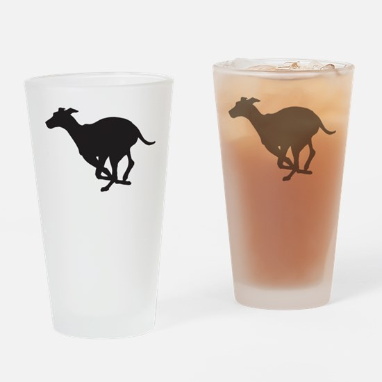 Grey Hound Drinking Glass