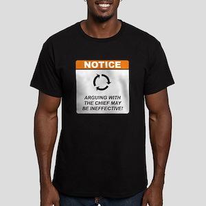 Chief / Argue Men's Fitted T-Shirt (dark)