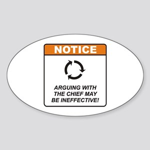 Chief / Argue Sticker (Oval)