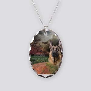 """""""Why God Made Dogs"""" GSD Necklace Oval Charm"""