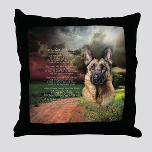 """Why God Made Dogs"" GSD Throw Pillow"