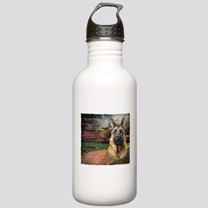 """Why God Made Dogs"" GSD Stainless Water Bottle 1.0"