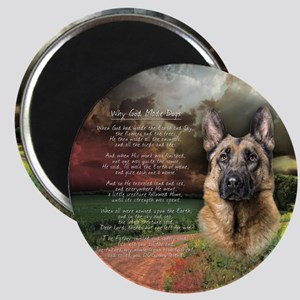 """Why God Made Dogs"" GSD Magnet"