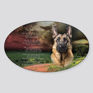 """""""Why God Made Dogs"""" GSD Sticker (Oval)"""