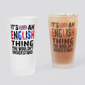 English Thing Drinking Glass