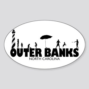 OUTER BANKS Sticker (Oval)
