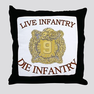 4th Bn 9th Infantry Throw Pillow