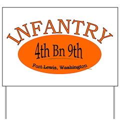 4th Bn 9th Infantry Yard Sign
