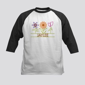 Jaylee with cute flowers Kids Baseball Jersey