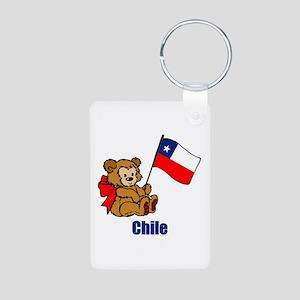 Chile Teddy Bear Aluminum Photo Keychain