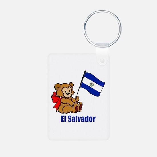 El Salvador Teddy Bear Keychains