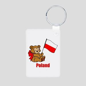 Poland Teddy Bear Aluminum Photo Keychain