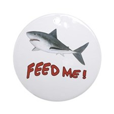 Shark - Feed Me Ornament (Round)