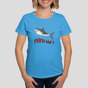 Shark - Feed Me Women's Dark T-Shirt