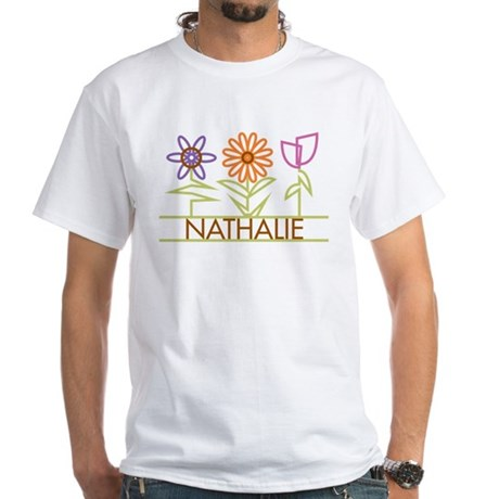 Nathalie with cute flowers White T-Shirt