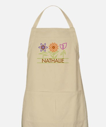 Nathalie with cute flowers Apron