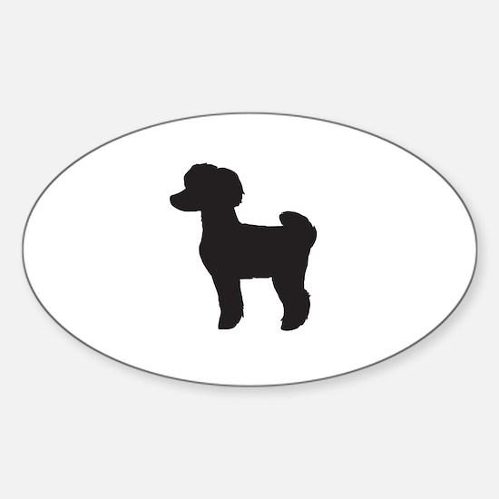 Toy Poodle Sticker (Oval)