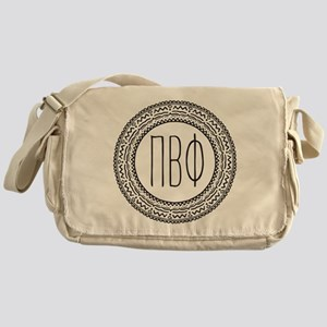 Pi Beta Phi Medallion Messenger Bag