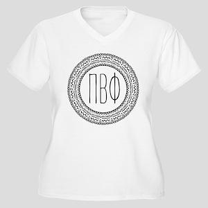 Pi Beta Phi Medal Women's Plus Size V-Neck T-Shirt